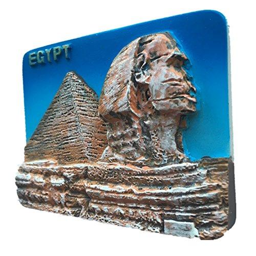 Sphinx - Imán para nevera, diseño de pirámides egipcios, resina 3D, ideal como regalo de turista, hecho a mano, creativo para el hogar y la cocina, magnético