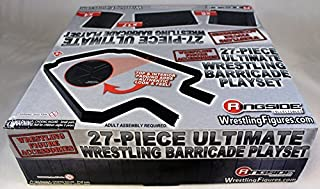27-PIECE ULTIMATE WRESTLING BARRICADE PLAYSET - RINGSIDE COLLECTIBLES EXCLUSIVE WWE TOY WRESTLING ACTION FIGURE PLAYSET
