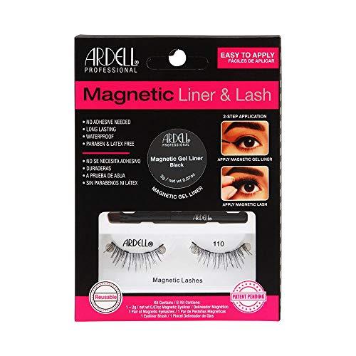ARDELL Professional Magnetic Liner & Lash, magnetischer Eyeliner mit 1 Paar magnetische Wimpern, einfaches Anbringen, wasserfest und wiederverwendbar aus Echthaar, das Original (110)