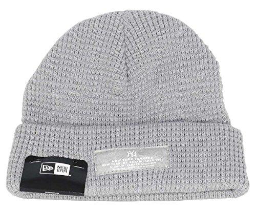 New era New York Yankees Beanie Mono Script Patch Knit Grey - One-Size