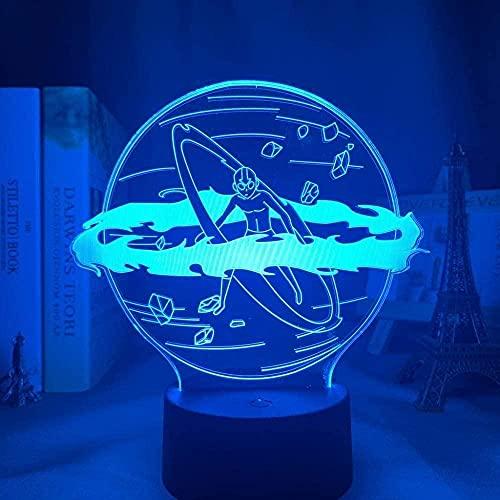 FUTYE Luz de noche 3D para niños Anime Led My Hero Academia para decoración de dormitorio, regalo de cumpleaños, manga Gadget Katsuki Bakugo Light -7_Colors_Touch