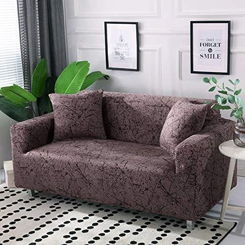 ASCV Funda de sofá de algodón Funda de sofá elástica Fundas de sofá elásticas para Sala de Estar Protector de Muebles de sofá en Forma de L Individual A6 2 plazas