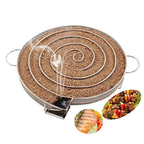Will Outdoor Cold Smoke Generator Sawdust Powder Smoker Hot and Cold Smoking BBQ Saw Charcoal Gas Grill Hot and Cold Smoking Salmon Meat Burns