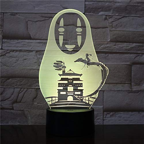 USB 3D LED Nachtlampje Geen Gezicht Man Figuur Decoratie Jongens Kind Kinderen Baby Geschenken Japanse Anime Geestelijke weg Tafellamp Nachtlampje A-1794