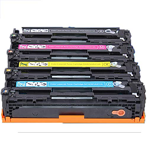 GSCCC Cartucho de tóner para impresora, Compatible para HP COLOR LASERJET 4025 4525 5220 COLOR SERIES, CB380A CB381A CB382A CB383A cartucho de tóner-4pcs