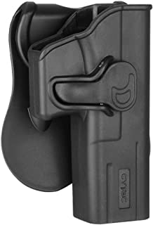 CYTAC Glock 17 Holster, OWB Holster for Glock 17 22 31 Gen 1 2 3 4 5, Polymer Outside The Waistband Paddle Holster - 360° Adjustable, Tactical Pistol Gun Belt Holster - Right Hand