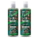 Faith in Nature Aloe Vera Shampoo e Balsamo, 400 ml (imballaggio può...