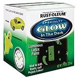 Rust-Oleum 214945 Glow in The Dark Brush On Paint, Half Pint , Brown