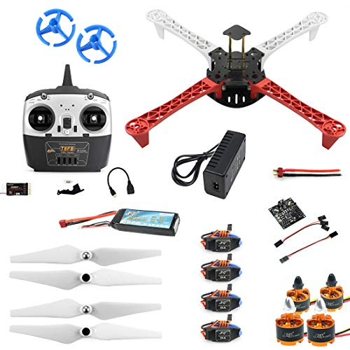 JMT Set completo T450 DIY RC Quadcopter Kit 450mm Frame KK V2.3 Xcopter Flight Controller T8FB Telecomando RC Droni DIY