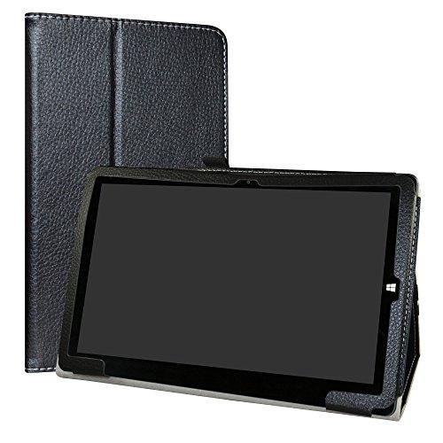 Chuwi hi10 x/hibook hi10 Pro/hibook hi10 Funda,LiuShan Folio Soporte PU Cuero con Funda Caso para 10.1' Chuwi hi10 x/hibook hi10 Pro/hibook hi10 Tablet,Negro