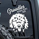Brand Free Pegatinas de coche de 30 cm Groodles Because People Suck Sticker