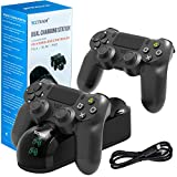 PS4 Controller Charger Charging Station, Dual Shock 4 Controller Charger PlayStation 4 Twin Charge Docking...