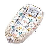Petyoung Cama de Bebé de Alta Calidad Transpirable Portátil Tumbona Nido de Bebé para Cama de Bebé Tumbona Suave para Recién Nacidos
