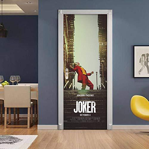 3D Deurfolie Deurfolie Groot Formaat Deur Sticker Huis Kamer Poort Pvc Zelfklevend Behang Film Jokerart Muurschildering Hele Stickers-90X200Cm