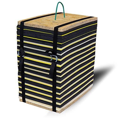 Yate Bogenschießen Zielscheibe Packband 45 Color bis 80lbs für Outdoor und Indoor, geeignet für Compoundbogen und Armbrust, wetterfest und langlebig