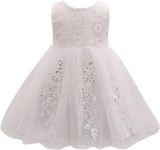 Zhuhaitf 高品質 Newborn Baby Girls Sequinned Dress Flower Princess Formal Party Wedding Bridesmaid Tulle ドレス for 0-24 Months
