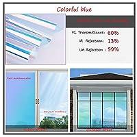 OUPAI 窓フィルム 窓用フィルム、一方向ミラー反射防止アンチuv自己接着ソーラーフィルム装飾静的くがみ熱制御プライバシーウィンドウ色合い用ホームとオフィス ガラスフィルム (Color : D, Size : 31inch × 39inch)