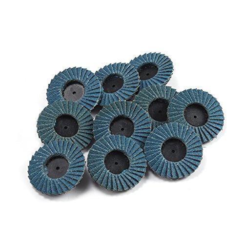 Roloc Style Schleifscheiben, flach, 10 Stück, blau, 2 inch-60 girt