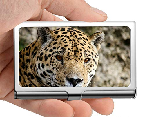 Titular de la tarjeta del nombre del negocio Cartera, Jaguar Panter Big Cat Sudamérica Estuche para...