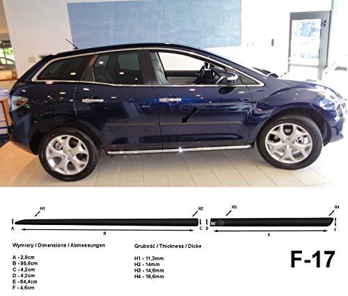 Spangenberg, bandes de protection latérales noires, compatible avec Mazda CX-7 SUV de facelift à partir de l'année 09.2009- F17 (3700017)