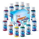 Loomini Children's Washable Tempera Paint Set 12 Pack of 2 fl oz (59ml)