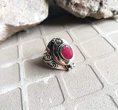 Handmade Jewelry | Ruby Stone | 925 Sterling Sliver | Ruby Ring | Red Stone Ruby Ring | Trending Ring | Rakhi Gift For Sister