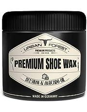 URBAN Forest pasta do butów do skóry, bezbarwna, z woskiem pszczelim i olejem z awokado   profesjonalna pielęgnacja butów i pielęgnacja skóry   czyszczenie i pielęgnacja butów z woskiem premium Shoe Wax firmy URBAN Forest