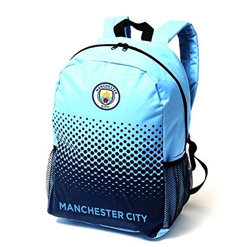 Manchester City FC - Mochila oficial de Manchester City FC (Talla Única/Azul/Azul marino)