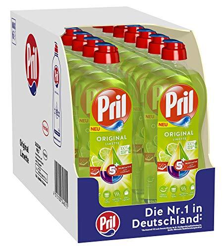 Pril 5 Plus Original Limette, Handgeschirrspülmittel, (14 x 675 ml) mit selbstaktiver Fettlösekraft