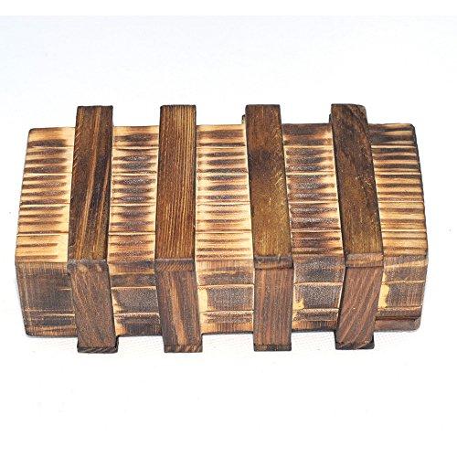 Chonor Cubo Rompecabezas 3D de Madera del Enigma Juego Puzle #112 - Caja Mágica de Madera con Cajón Secreto Seguro - Clásica de Cerradura de Brain Teaser Puzzle IQ Juguetes para Niños y Adulto