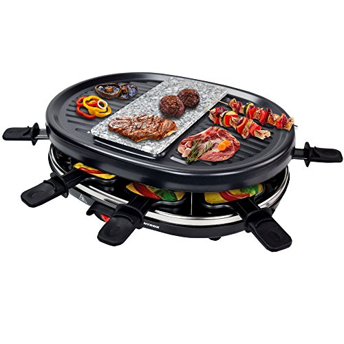 Syntrox Germany Raclette Jura met grill en hete steen voor 8 personen