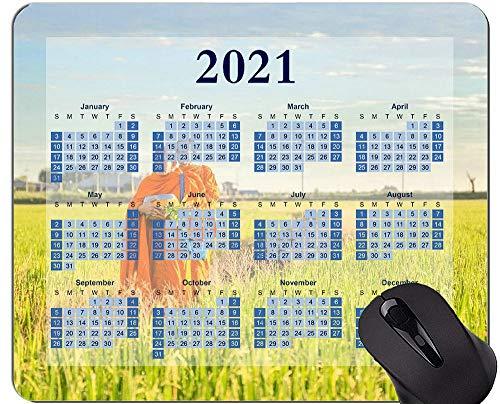 Yanteng 2021 Calendar Mouse Pad, Buddhism Faith Mouse Pad
