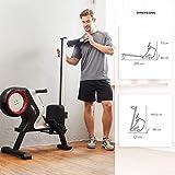 SportPlus Rudergerät für zuhause, klappbar, Rudermaschine mit Magnet- oder Turbinenbremssystem, kugelgelagerter Rudersitz, brustgurtkompatibel, Trainingscomputer, Rowing Machine, Sicherheit geprüft - 6