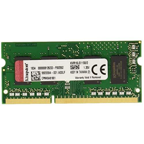 Kingston KVR16LS11S6/2 Arbeitsspeicher 2GB (DDR3L Non-ECC CL11 SODIMM 1,35V, 204-pin)