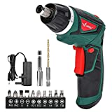 LANNERET Electric Screwdriver Cordless Household 7.2 V 1500mAh Lithium-Ion Rechargeable Power Screw Guns