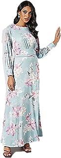 Floral Maxi Dress Blue NN-2