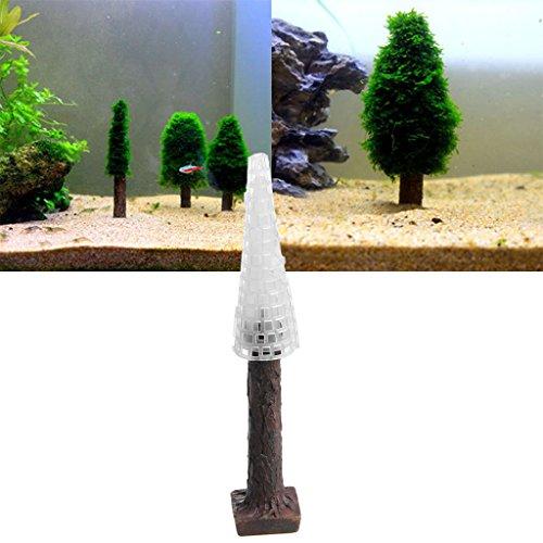 Celan Künstlicher Weihnachtsbaum aus Kunststoff mit Moos-Motiv, Dekoration für Aquarien
