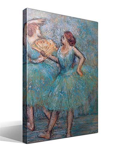 Cuadro Canvas Dos Bailarinas Azul de Edgar Degas