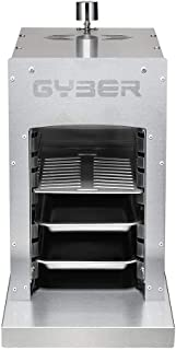 GYBER Anvil-Go Gas Infrared Grill (Propane) Single, Vertical Cooking and Outdoor Grilling | BBQ Chicken, Steak, Fish, Vegetables | Fast, Efficient Heating Element | Stainless Steel