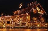Idena 8325058 - LED Lichterkette mit 80 LED in warm weiß, mit 8 Stunden Timer Funktion, Innen und Außenbereich, für Partys, Weihnachten, Deko, Hochzeit, als Stimmungslicht, ca. 15,9 m - 3