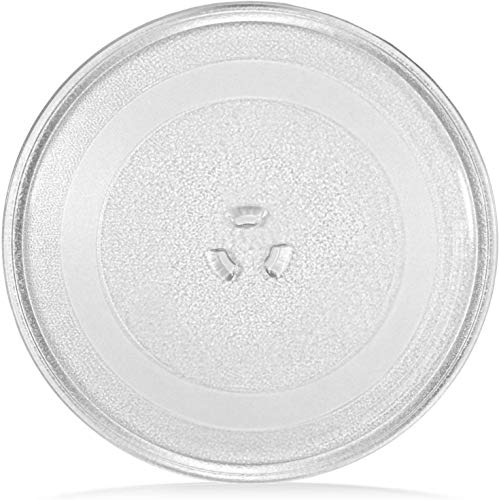 ABC Products Universal Microwave Oven Turntable Glass Plate with 3 Fixers, 245 mm / 24.5 cm / 9.65 Inches