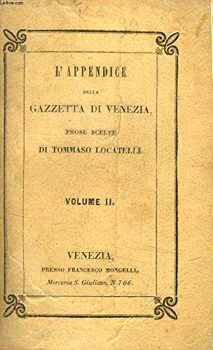 L'APPENDICE DELLA GAZZETTA DI VENEZIA, PROSE SCELTE, VOLUME II