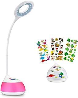 HIHIGOU LED Lampe de Bureau, 3.2W Bras Flexible Contrôle Tactile 3 Niveaux de Luminosité Réglable et 256 Couleurs Changeab...