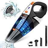 Hikeren Handheld Vacuum, Hand Vacuum Cordless 7Kpa Strong Suction Powered by Li-ion Battery Rechargeable Quick Charge Tech, Mini Vacuum for Home and Car Cleaning, Orange