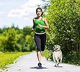 CUGLB Hände Frei Joggingleine mit Bauchgurt, Elastische Hundeleine Hands Free Leine Zubehör für Hunde Hundeleinen Set Reflektierende Bauchgurt mit 2 or 3 Tasche Taille (Rot) - 6