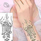 10 Piezas Negro Creativo Línea Arte Planeta Luna Falso Tatuajes Pegatinas Mujeres Brazo Muñeca Tatuaje Temporal Pequeño Arte Tatuaje Para Niños
