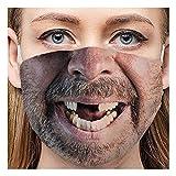 Mundschutz Multifunktionstuch 3D Druck Lustig Bandana Maske Waschbar Wiederverwendbar Stoffmaske Erwachsene Mund-nasenschutz Stoff Atmungsaktiv Staubdichte Halstuch Bandana für Herren Damen (A8)
