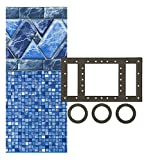 Smartline Stone Harbor 24-Foot Round Pool Liner | UniBead Style | 52-Inch Wall Height | 25 Gauge...