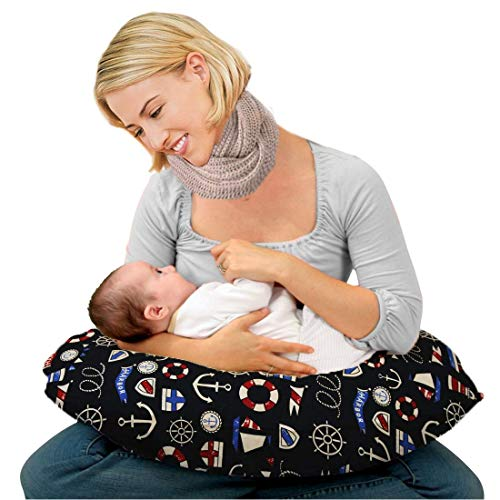 Kradyl Kroft Baby's 5-in-1 Feeding Pillow with Detachable Cover ( Color-Multicolor, Columbus 2.0)