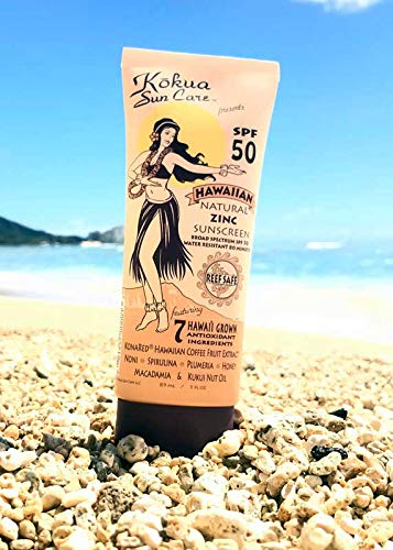 Kokua Sun Care SPF 50/80 Min Water Resistance Reef Safe Natural Zinc Sunscreen